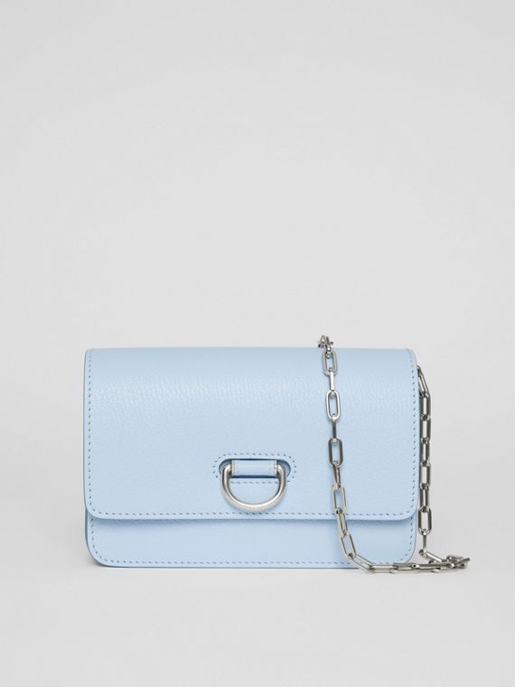 The Mini Leather D-ring Bag in Pale Blue