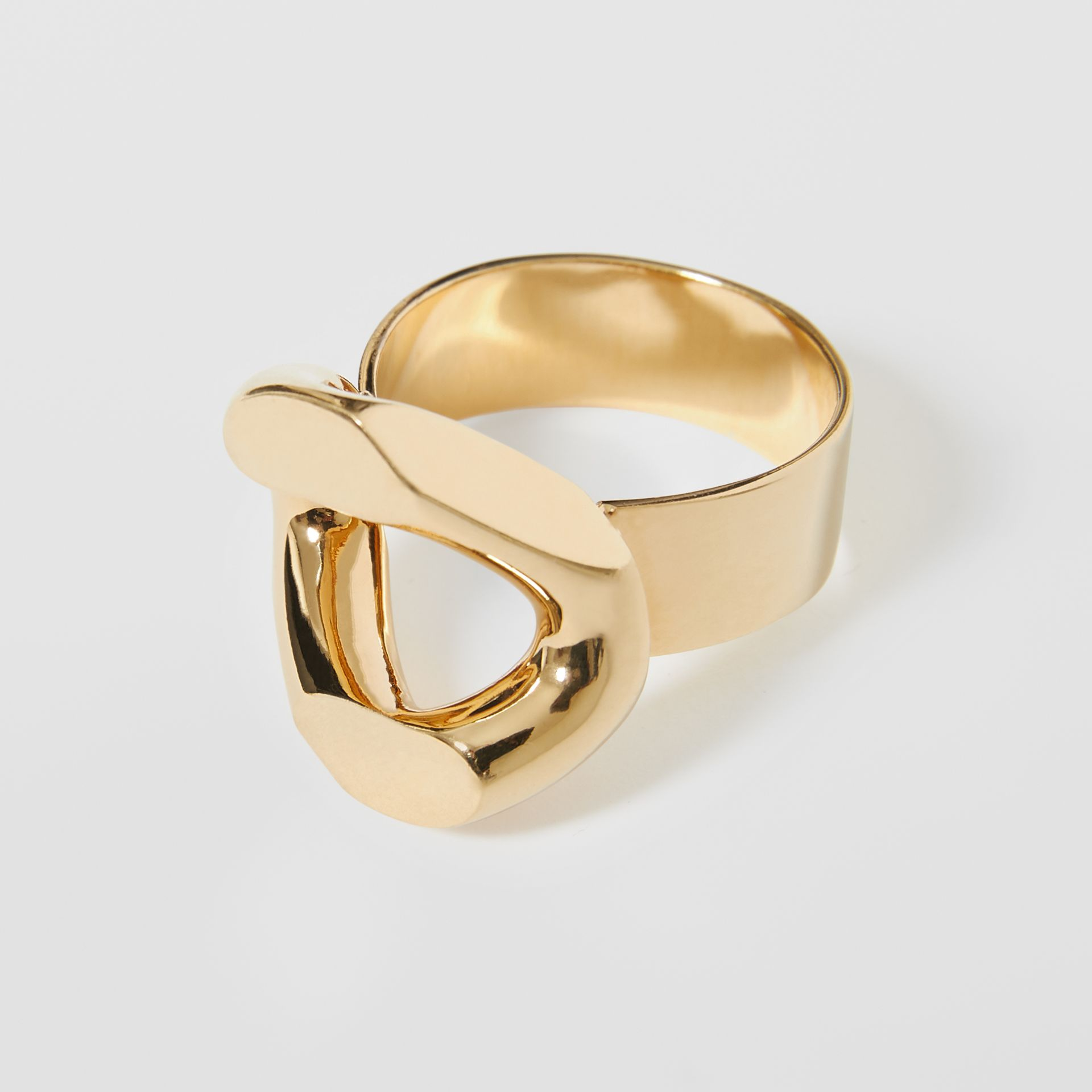 Gold-plated Chain-link Ring in Light - Women | Burberry - gallery image 4