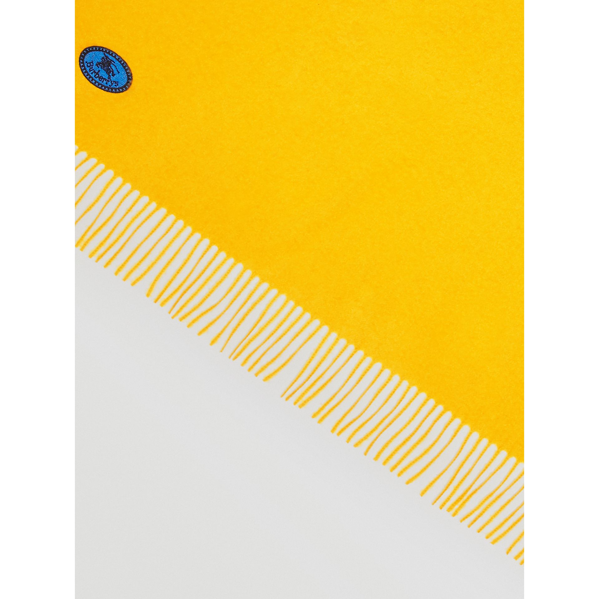 The Burberry Bandana in Embroidered Cashmere in Gorse Yellow | Burberry Hong Kong - gallery image 1