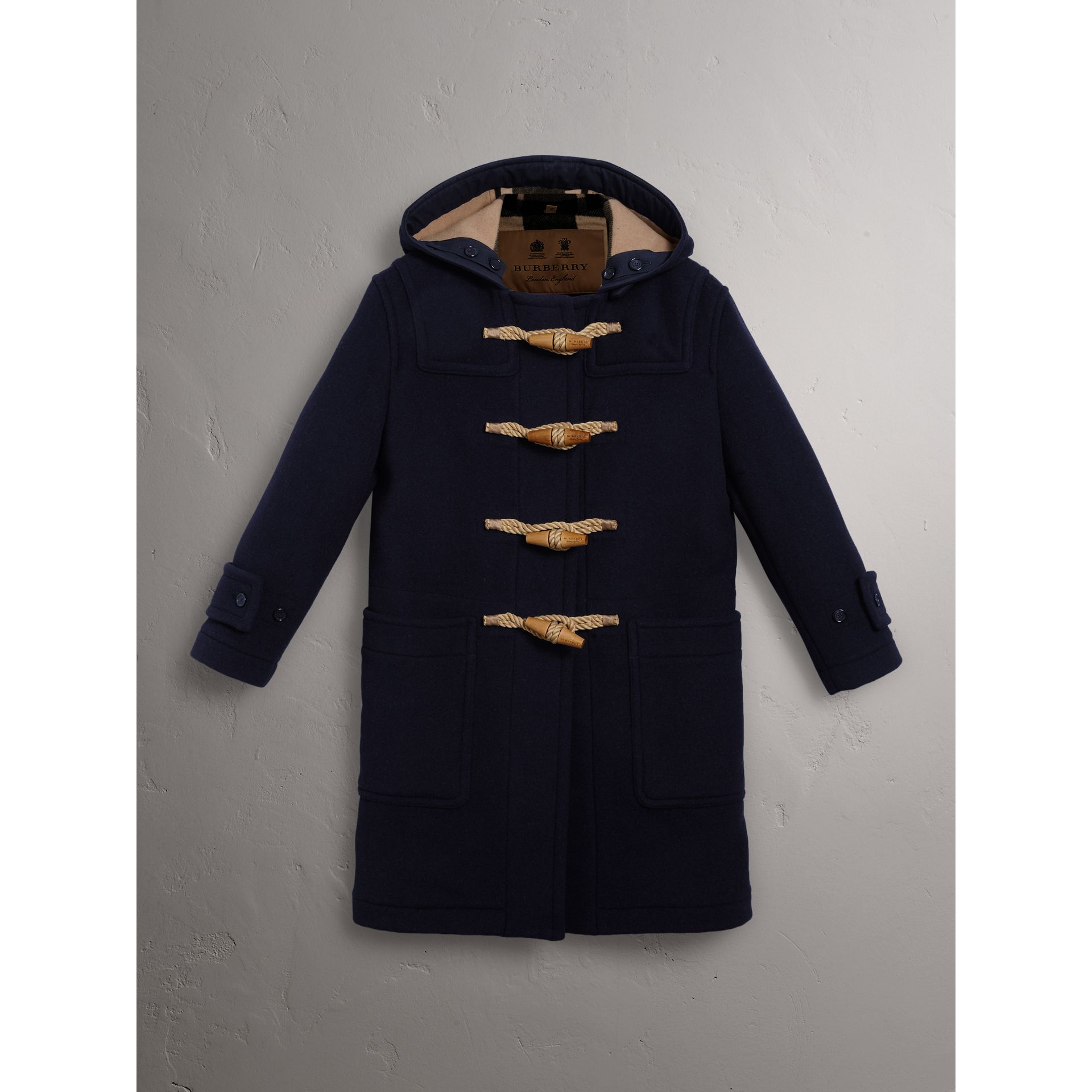The Greenwich Duffle Coat in Navy - Women | Burberry Hong Kong - gallery image 3