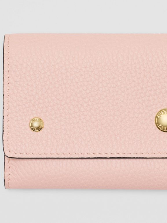 Grainy Leather Continental Wallet in Pale Ash Rose - Women | Burberry - cell image 1