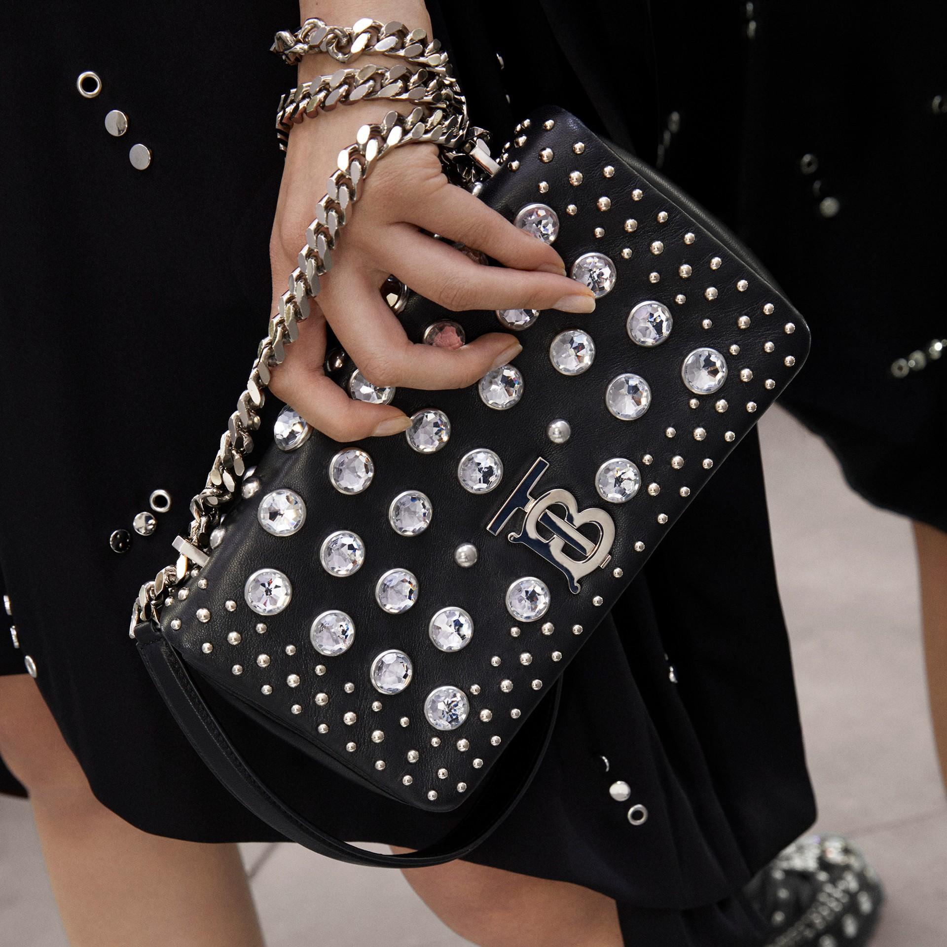 Small Embellished Lambskin Lola Bag in Black - Women | Burberry - gallery image 1