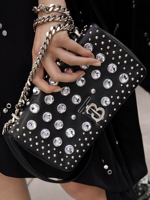 Small Embellished Lambskin Lola Bag in Black - Women | Burberry - cell image 1