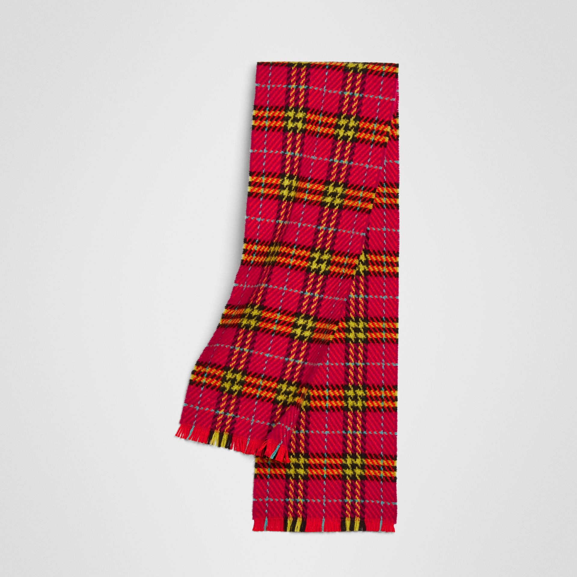 Vintage Check Merino Wool Scarf in Pomegranate Pink | Burberry United Kingdom - gallery image 0