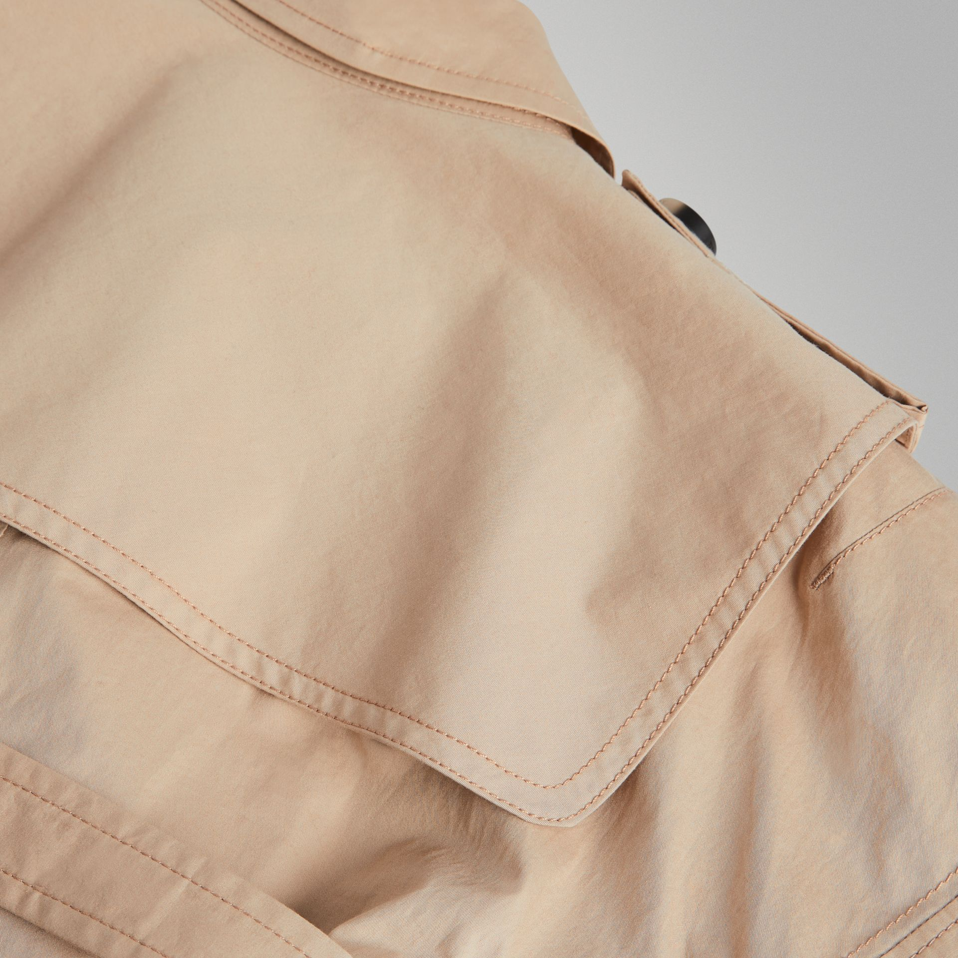 Stretch Cotton Trench Dress in Honey | Burberry United States - gallery image 1