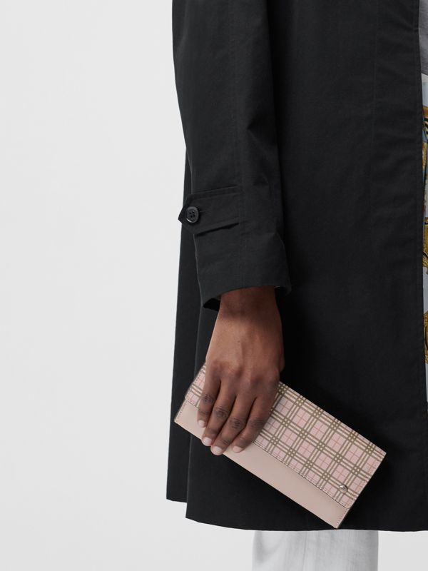 Small Scale Check Wallet with Detachable Strap in Ice Pink - Women | Burberry - cell image 3
