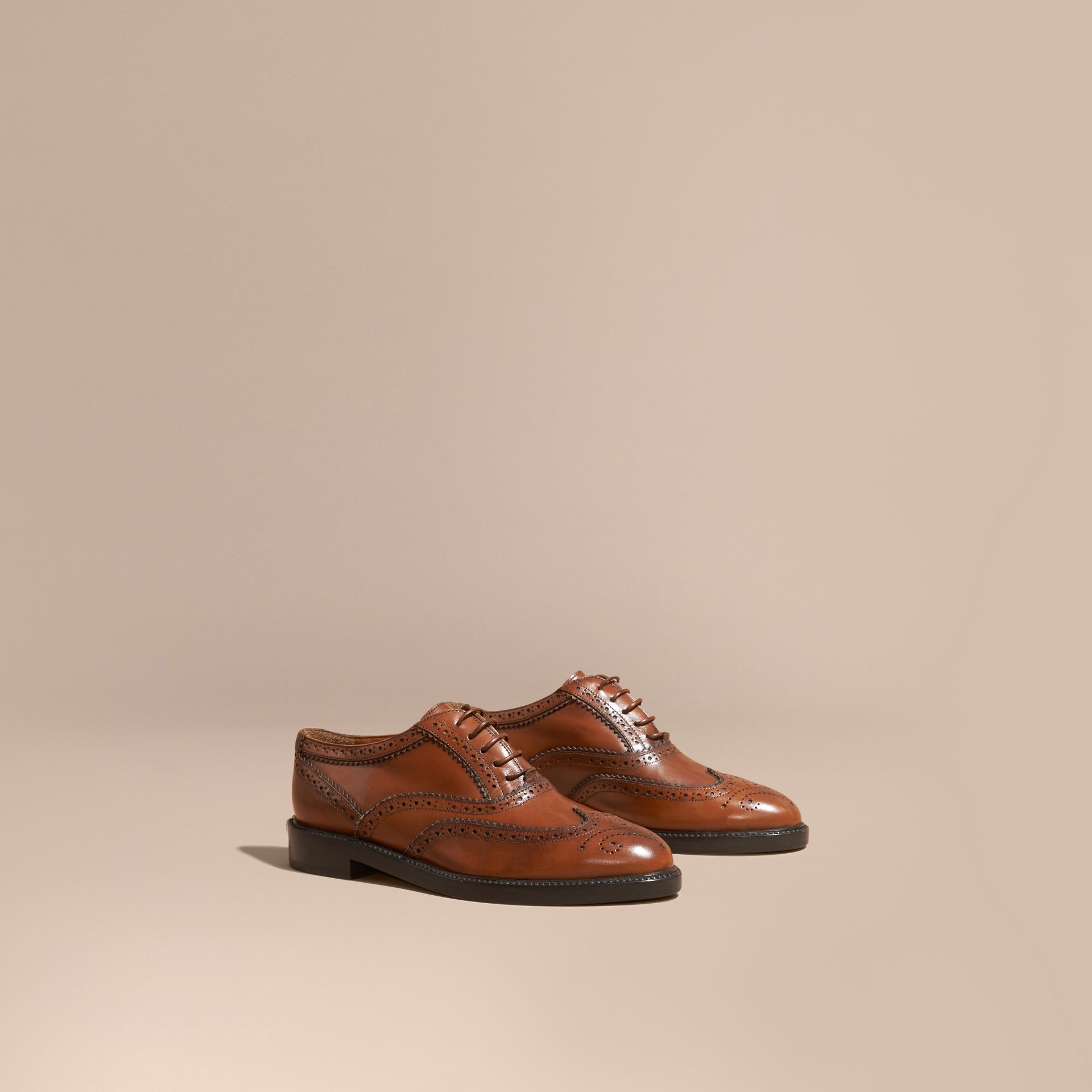Bright camel Leather Wingtip Brogues Bright Camel - gallery image 1