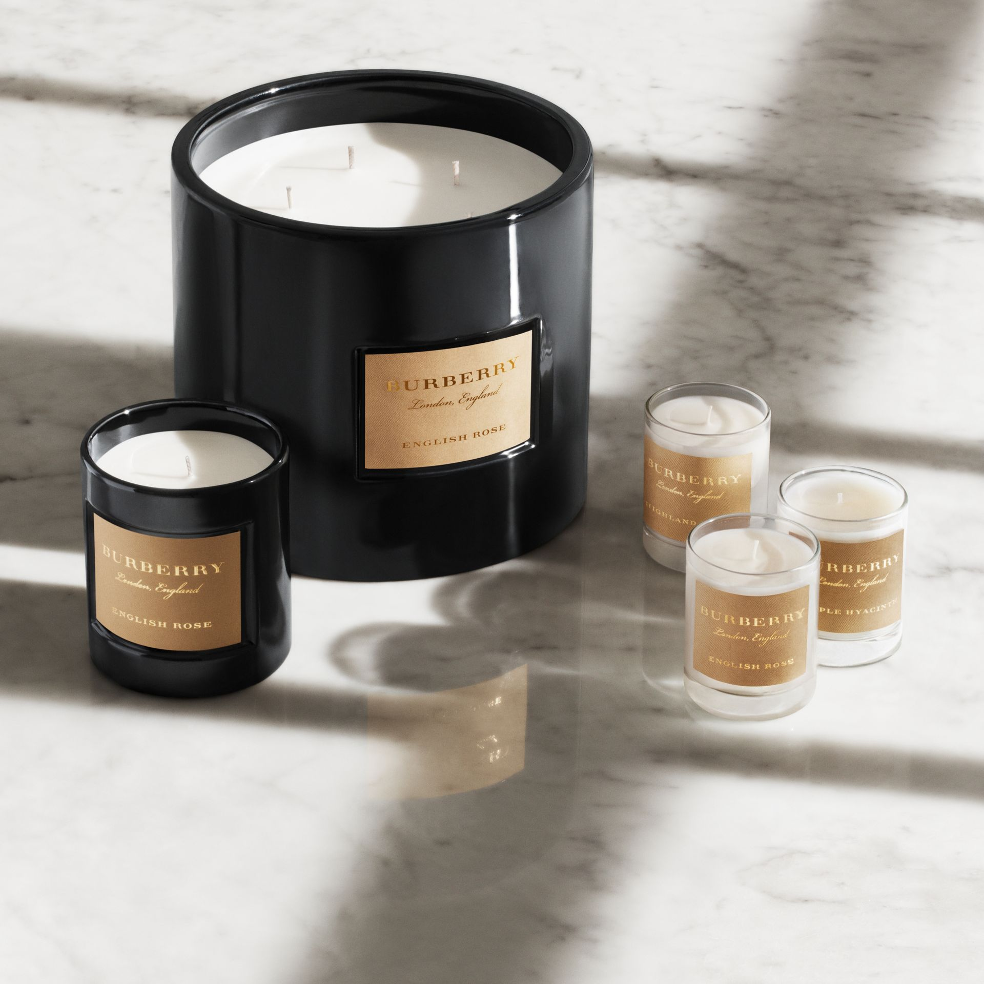 Scented Candle Collection – Cedar Wood, Black Amber, Dewy Grass | Burberry United Kingdom - gallery image 1