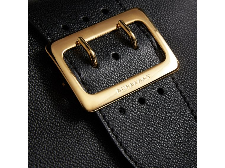 The Small Buckle Crossbody Bag in Leather in Black - Women | Burberry United Kingdom - cell image 1