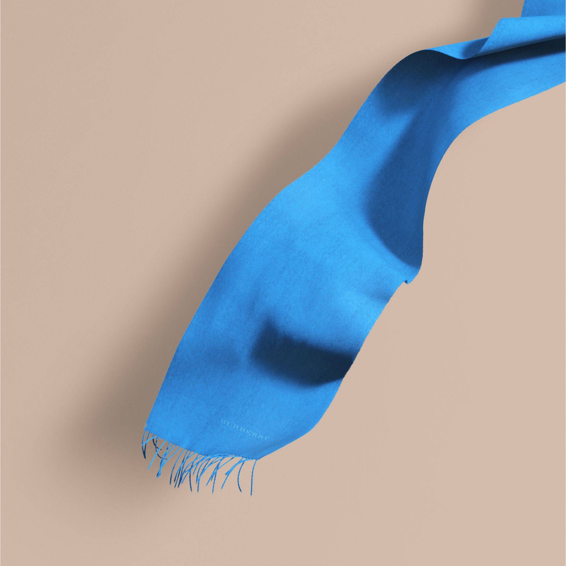 Bright cornflower blue The Classic Cashmere Scarf Bright Cornflower Blue - gallery image 1