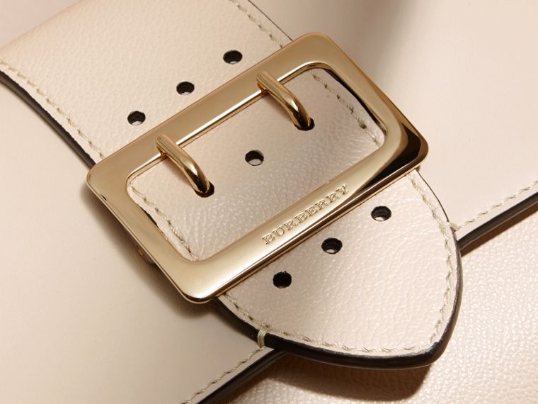 The Buckle Crossbody Bag in Leather in Limestone - cell image 1