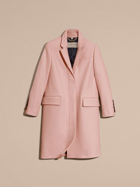 Chalk pink Boiled Wool Tailored Coat - cell image 3