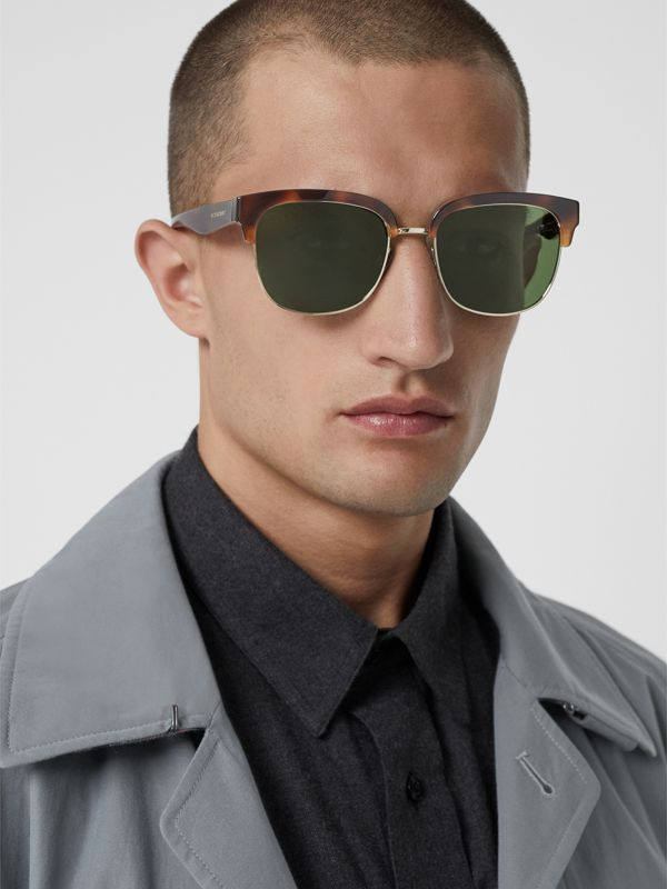 D-frame Sunglasses in Tortoise Shell - Men | Burberry Australia - cell image 3