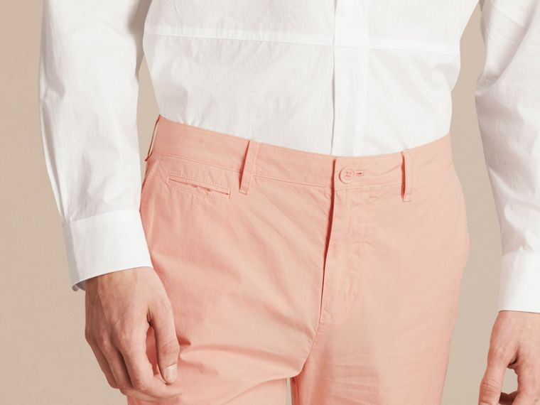 Slim Fit Cotton Poplin Chinos Apricot Pink - cell image 4