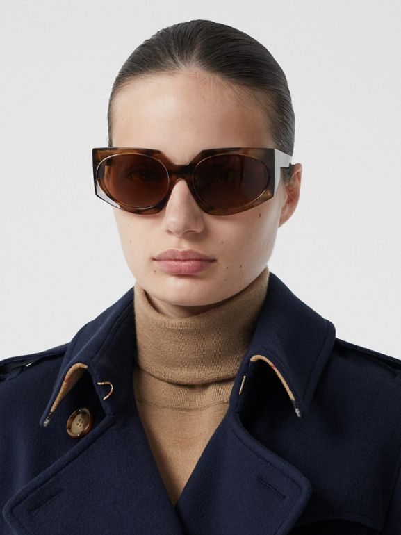 Cashmere Trench Coat in Navy - Women | Burberry Australia - cell image 1