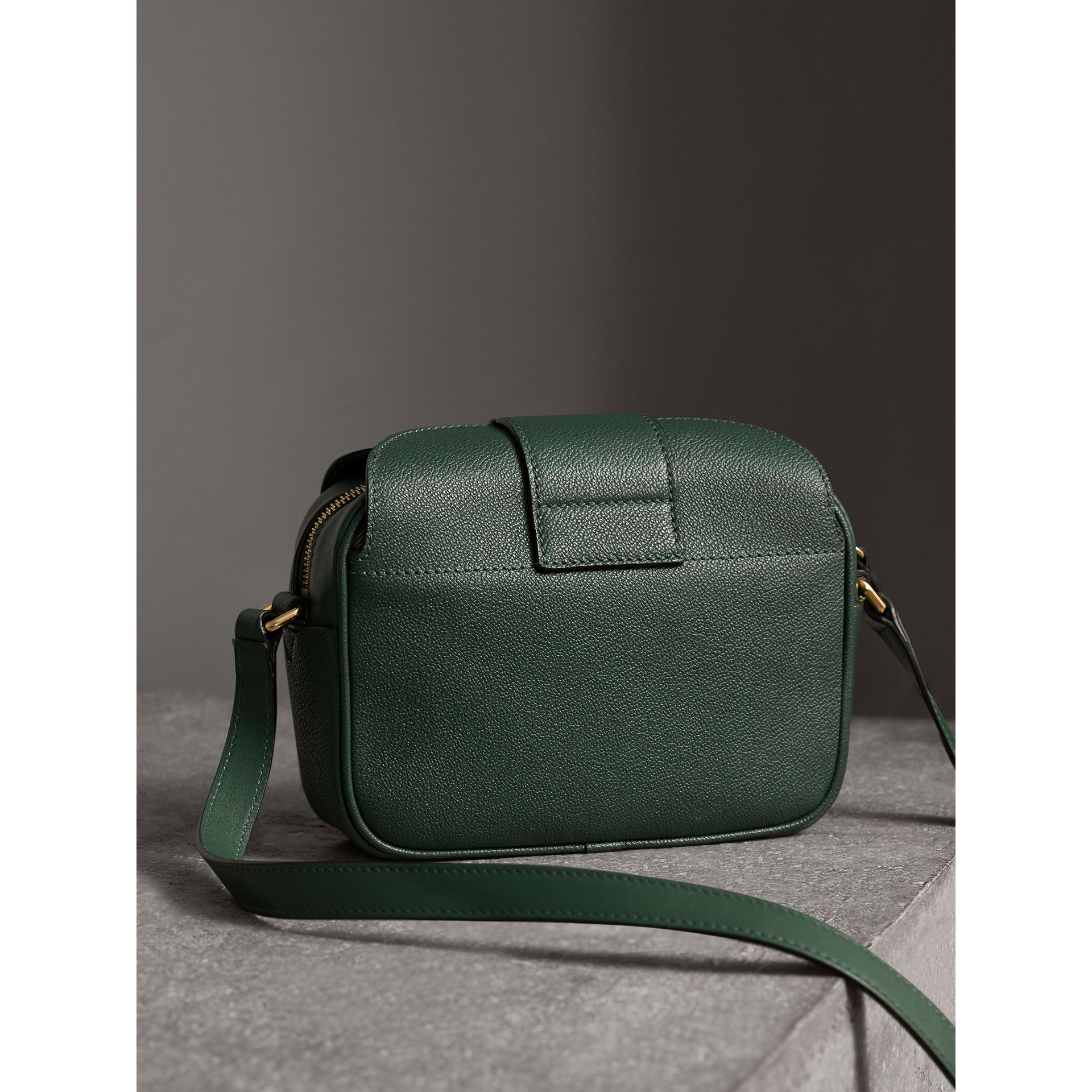 The Small Buckle Crossbody Bag in Leather in Sea Green - Women | Burberry Australia - gallery image 4