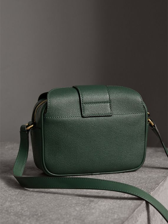 The Small Buckle Crossbody Bag in Leather in Sea Green - Women | Burberry Australia - cell image 3