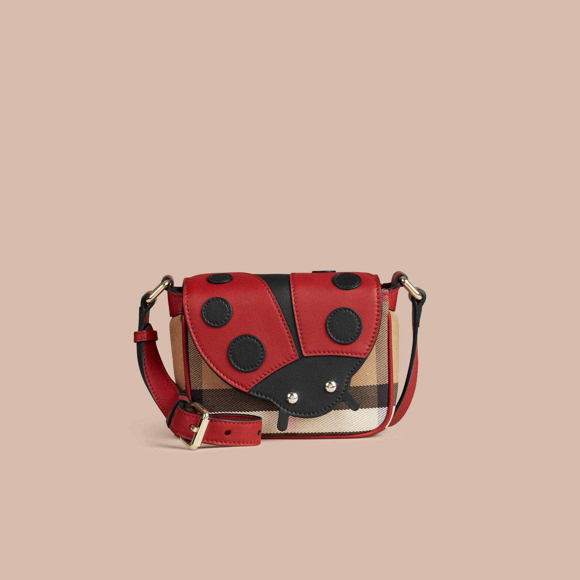Parade red Ladybird Canvas Check and Leather Crossbody Bag - gallery image 2