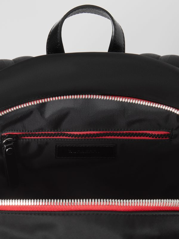 Logo Print Backpack in Black - Children | Burberry - cell image 3