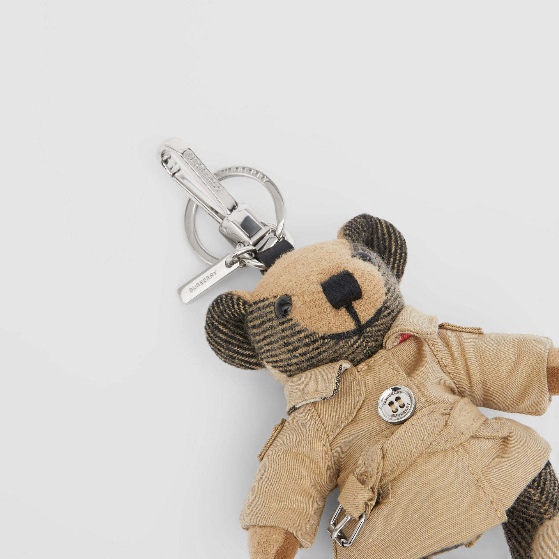 Thomas Bear Charm in Trench Coat in Archive Beige - Women | Burberry - gallery image 1