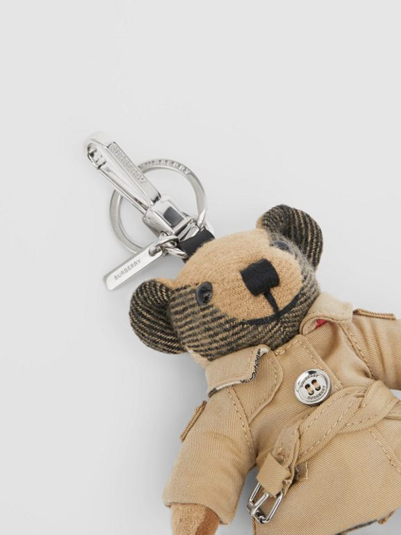 Thomas Bear Charm in Trench Coat in Archive Beige - Women | Burberry - cell image 1