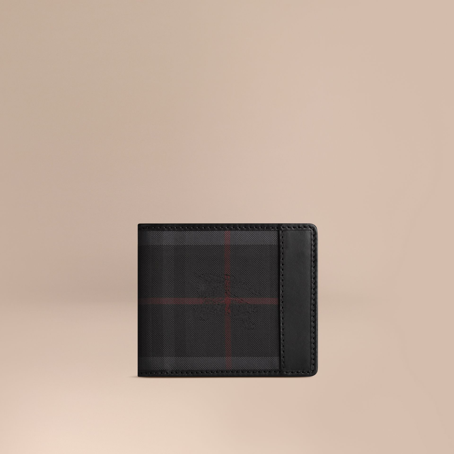 Horseferry Check ID Wallet in Charcoal/black - Men | Burberry - gallery image 1