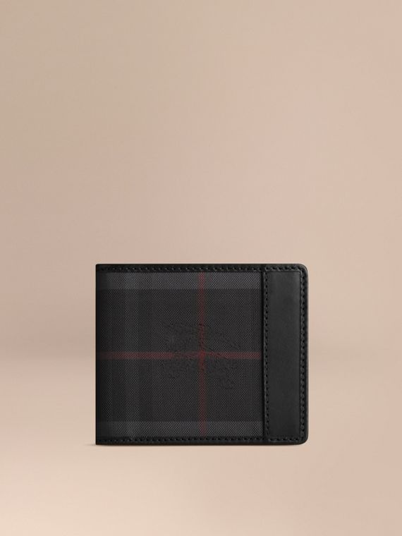 Horseferry Check ID Wallet in Charcoal/black - Men | Burberry Australia