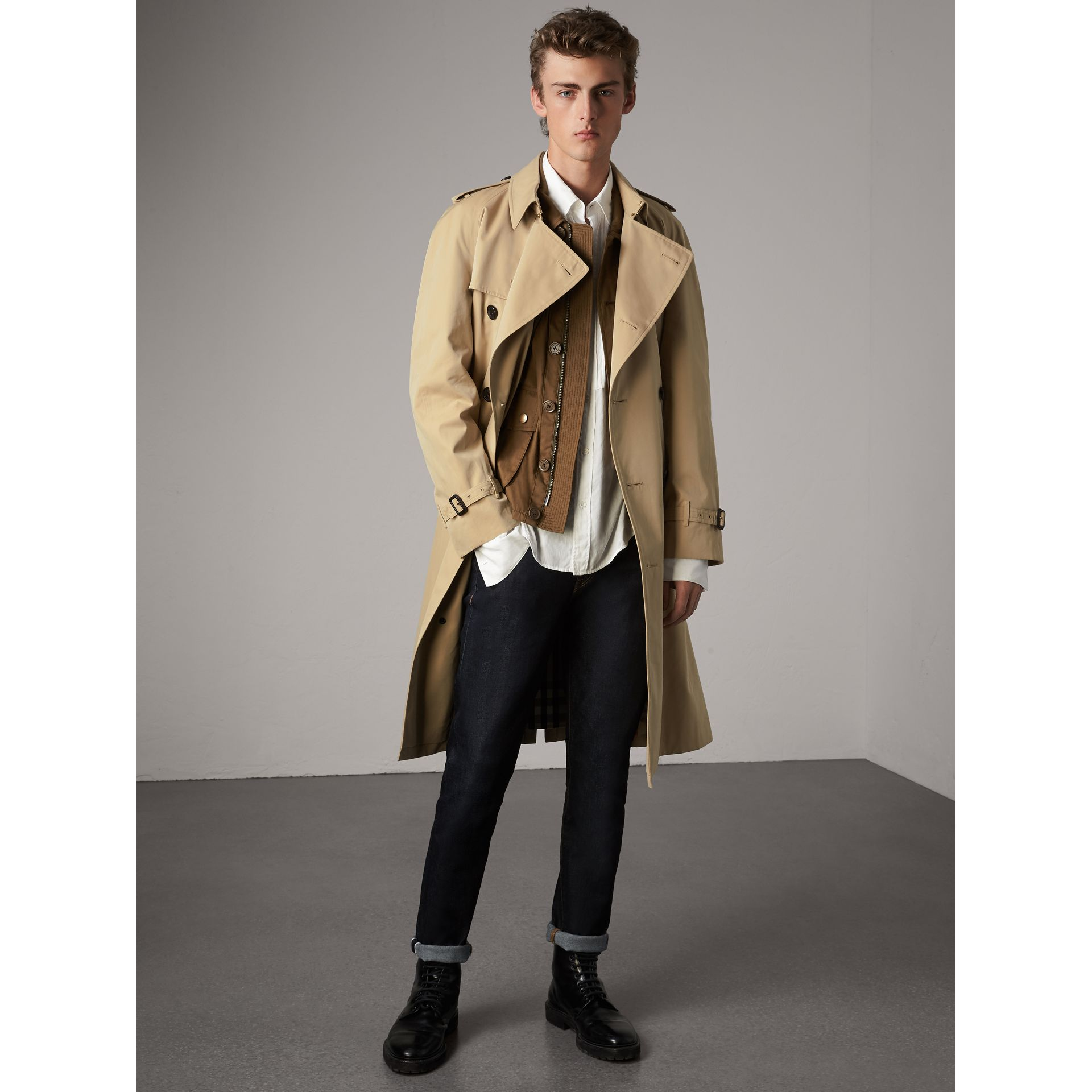 The Westminster – Trench extra-long (Miel) - Homme | Burberry - photo de la galerie 1