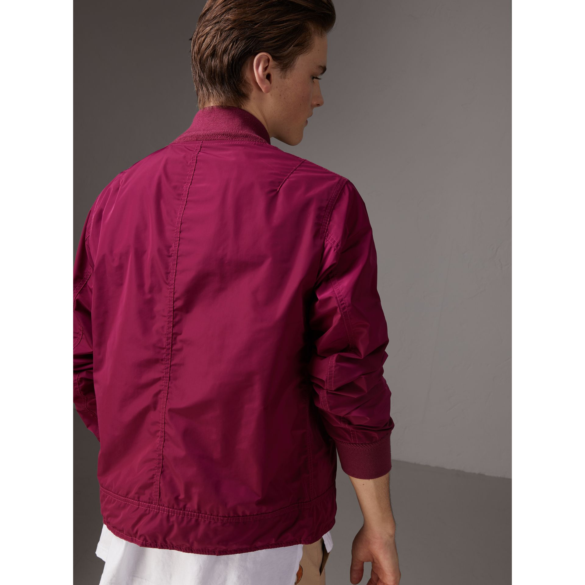 Shape-memory Taffeta Bomber Jacket in Fritillary Pink - Men | Burberry - gallery image 2