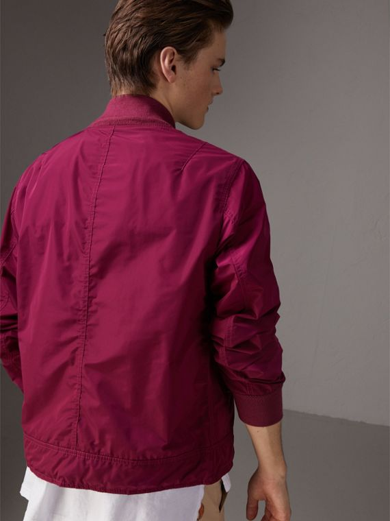 Shape-memory Taffeta Bomber Jacket in Fritillary Pink - Men | Burberry - cell image 2