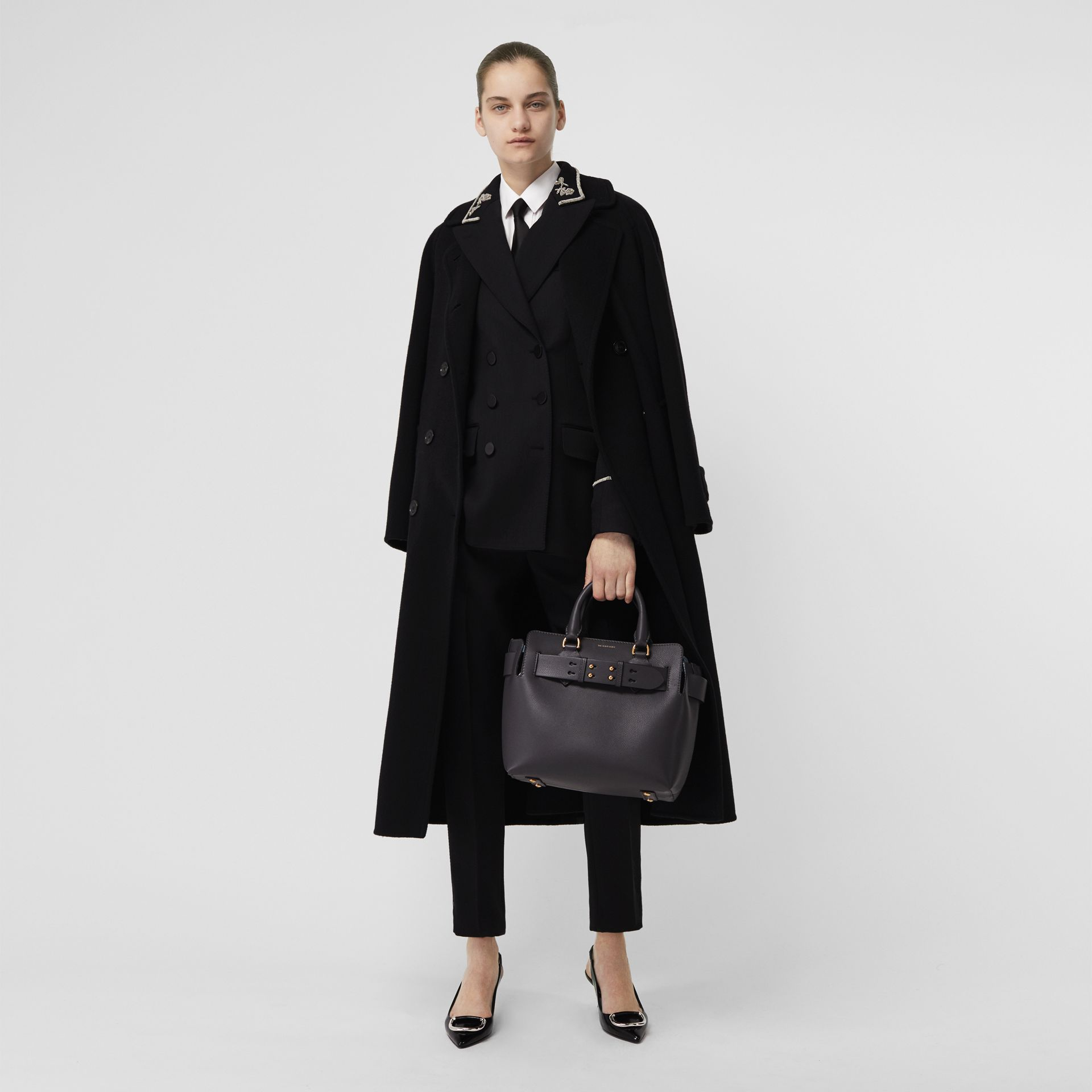 Double-faced Cashmere Tailored Coat in Black - Women | Burberry Singapore - gallery image 0