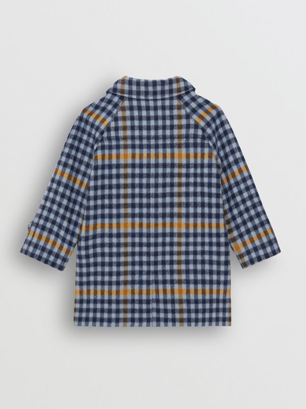 Check Wool Car Coat in Canvas Blue - Children | Burberry - cell image 3