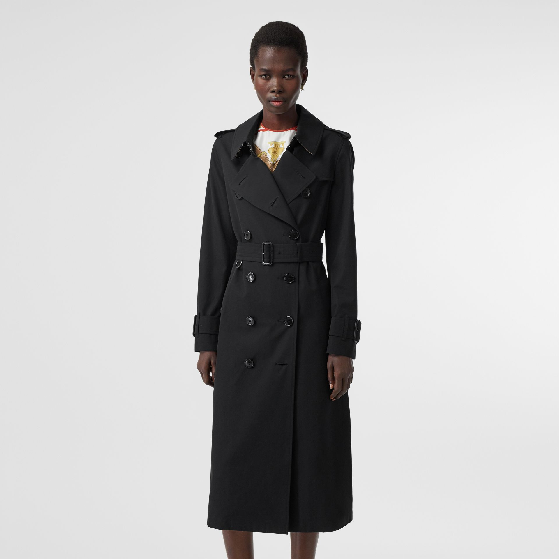 Tropical Gabardine Trench Coat in Black - Women | Burberry Canada - gallery image 7