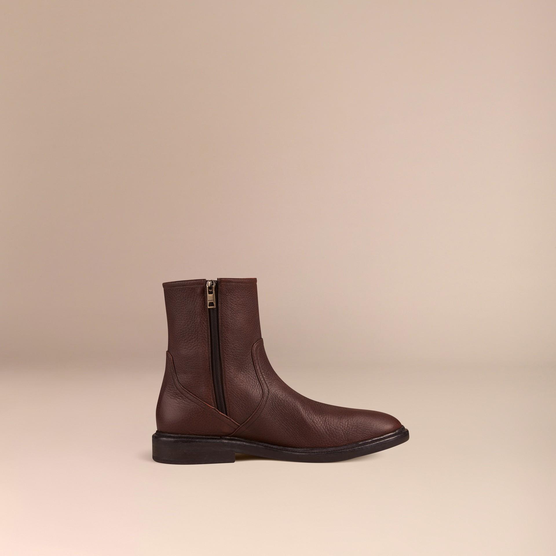 Bitter chocolate Deerskin Boots - gallery image 3