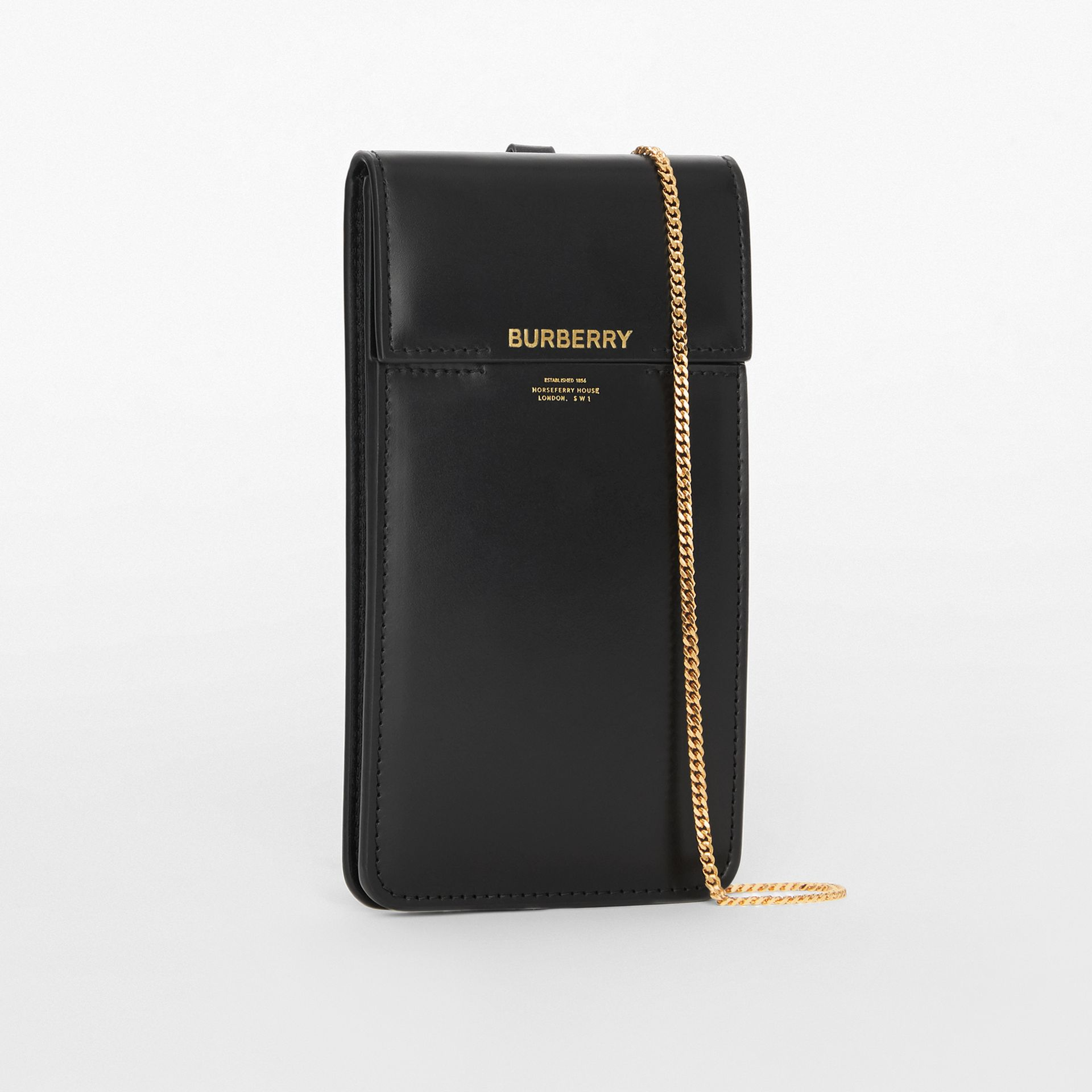 Horseferry Print Leather Phone Case Lanyard in Black - Women | Burberry - gallery image 4