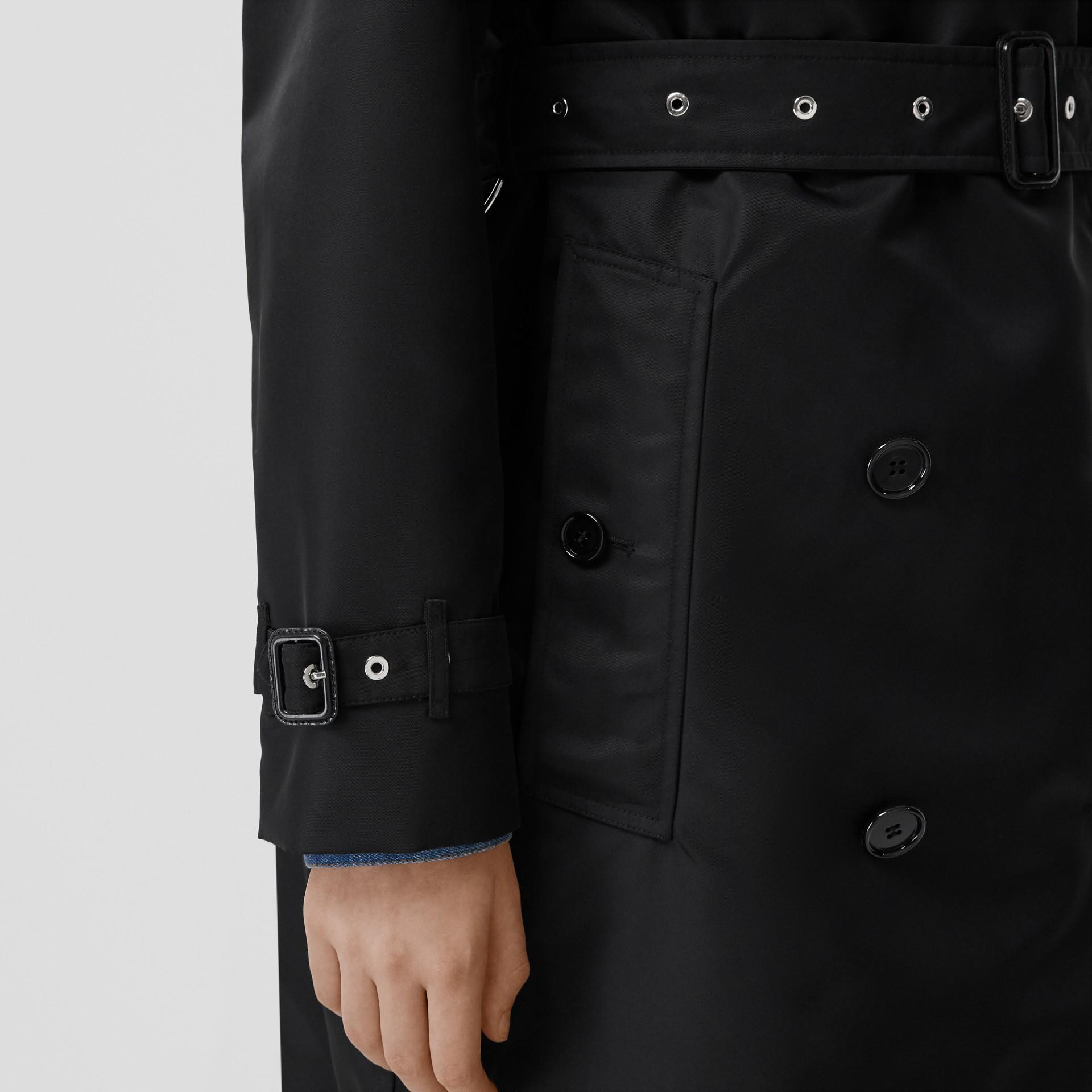 Nylon Twill Trench Coat in Black - Women | Burberry Australia - gallery image 4