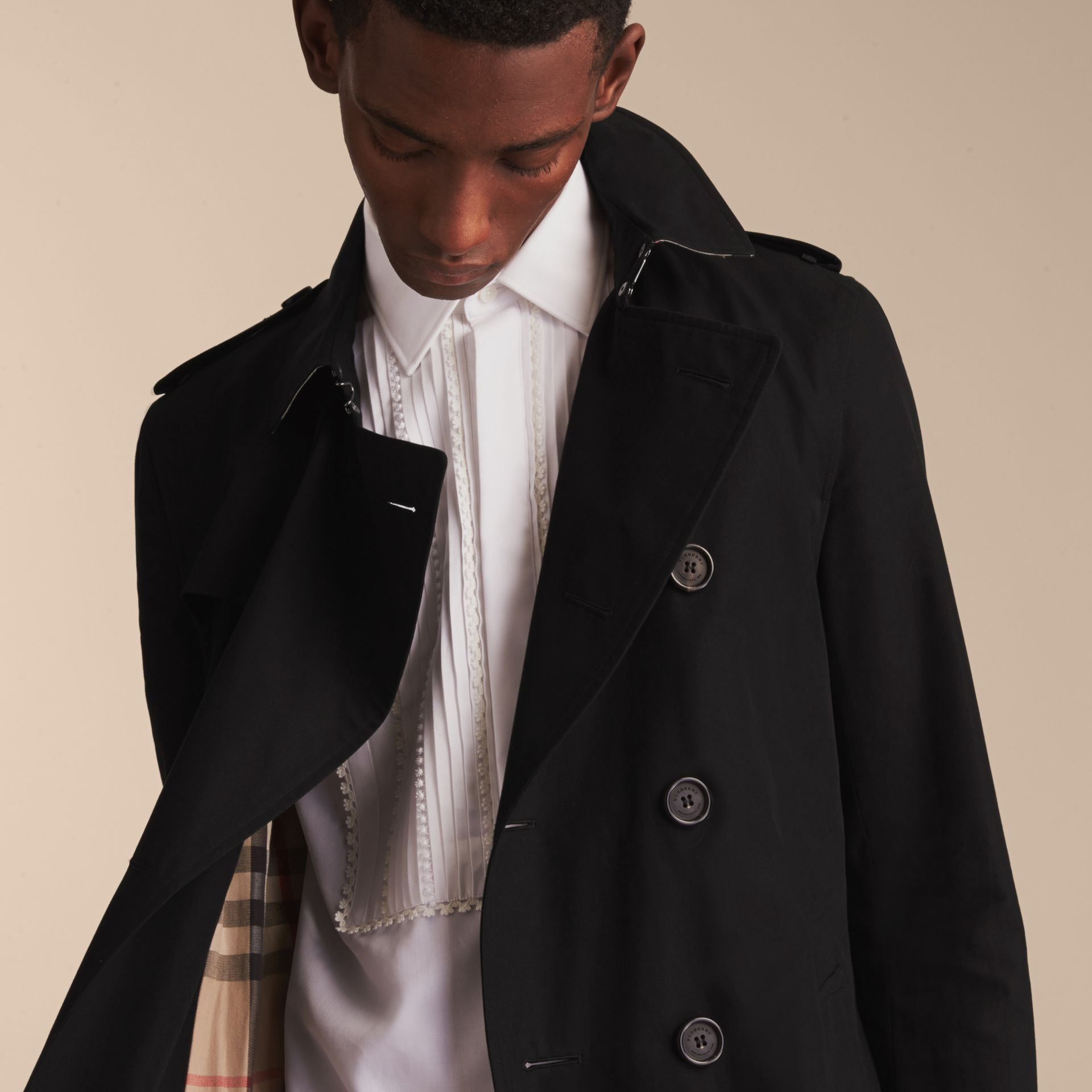 Black The Sandringham – Long Heritage Trench Coat Black - gallery image 10