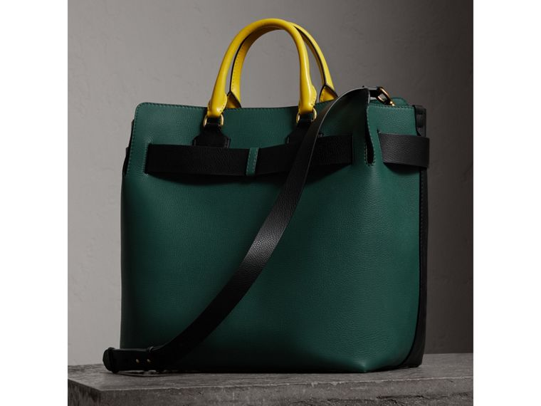 Borsa The Belt grande in pelle con tre colori (Nero/verde Mare) | Burberry - cell image 4