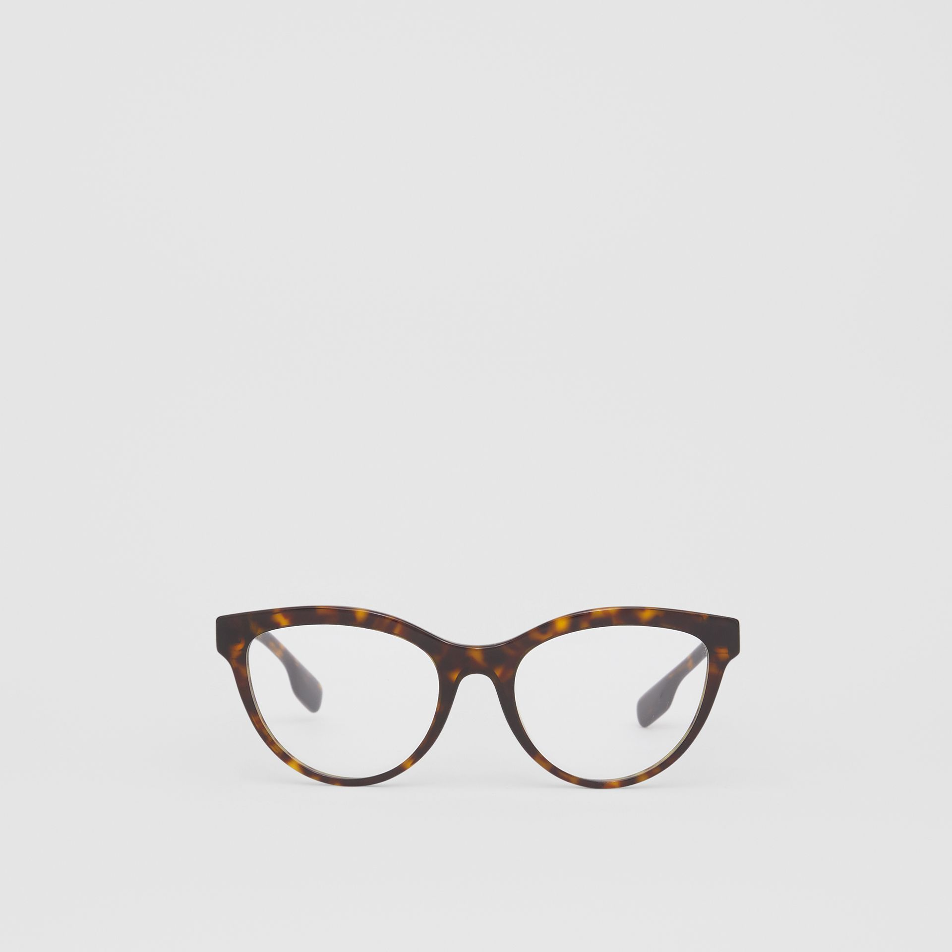 Monogram Motif Cat-eye Optical Frames in Tortoiseshell - Women | Burberry Hong Kong S.A.R - gallery image 0