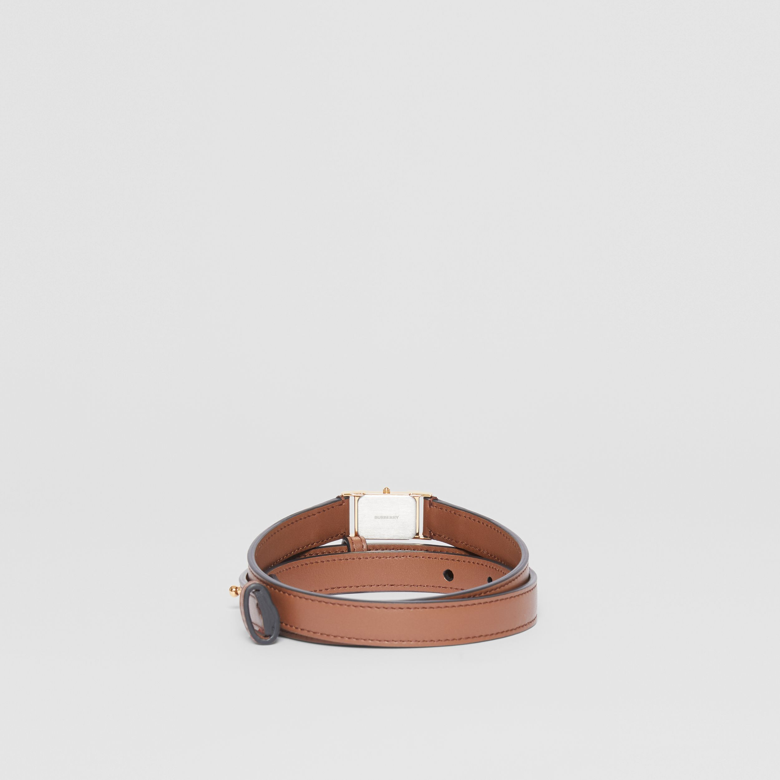 Faux Watch Detail Leather Belt in Tan - Men | Burberry Hong Kong S.A.R - 4