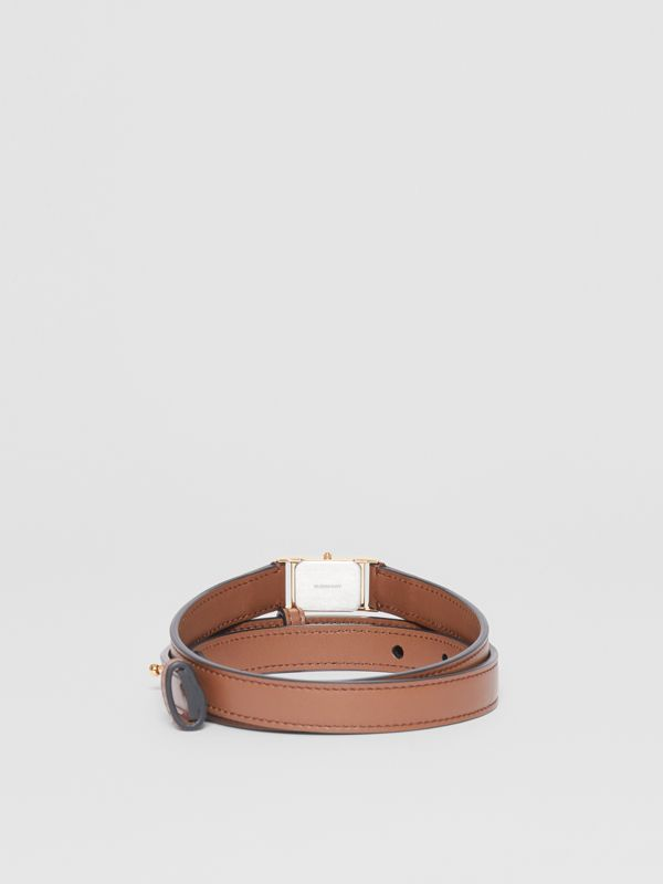 Faux Watch Detail Leather Belt in Tan - Men | Burberry - cell image 3