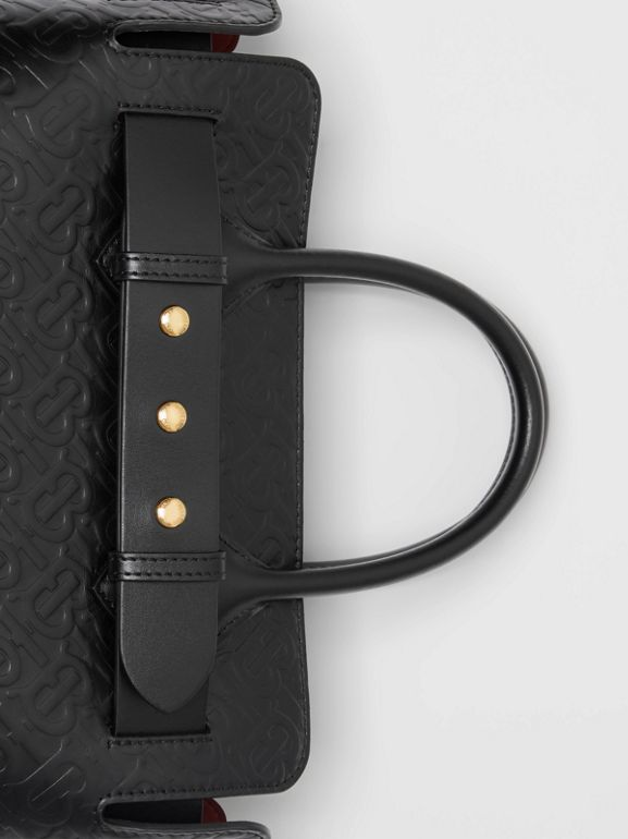 The Small Monogram Leather Triple Stud Belt Bag in Black - Women | Burberry Australia - cell image 1