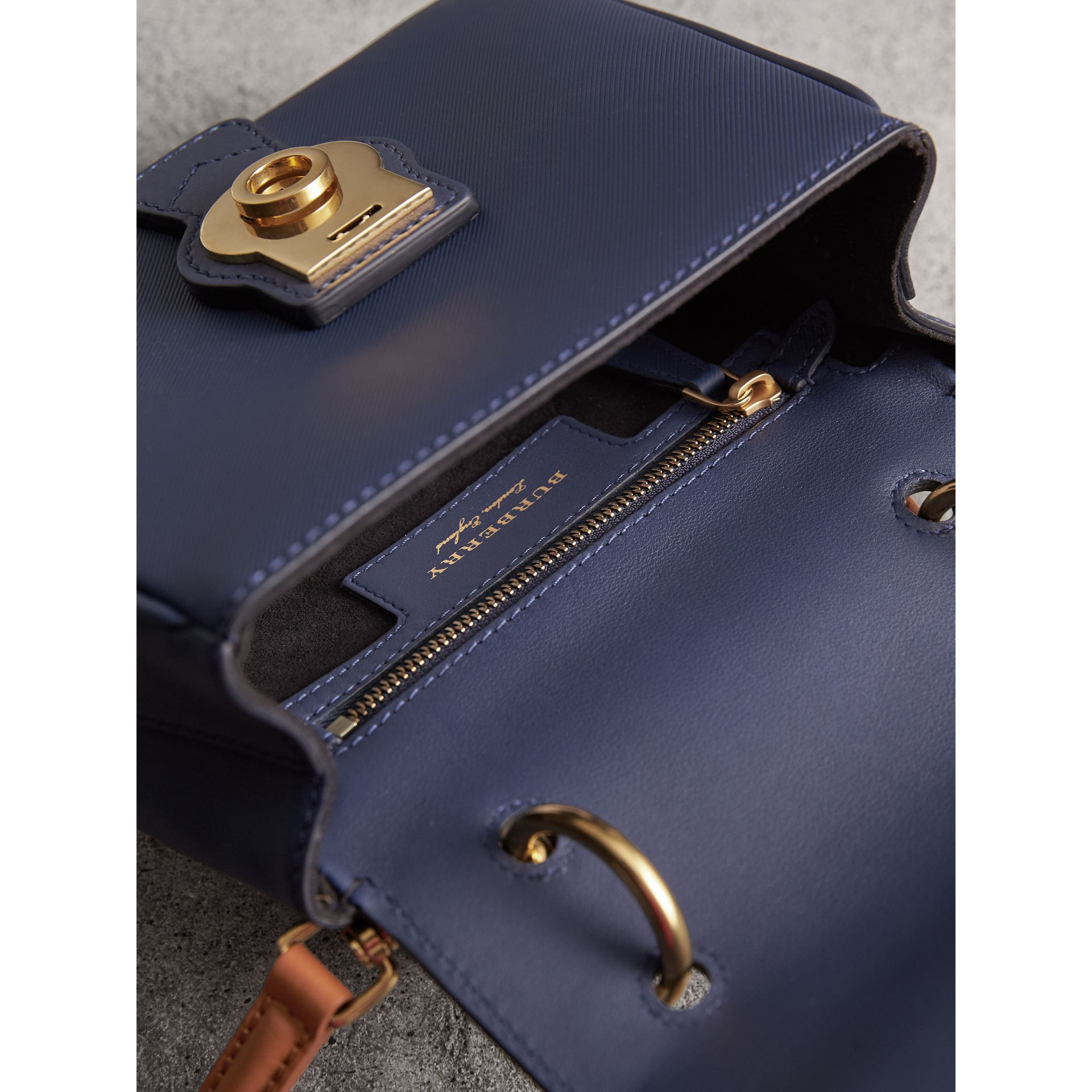 The Small DK88 Top Handle Bag in Ink Blue - Women | Burberry United Kingdom - gallery image 5