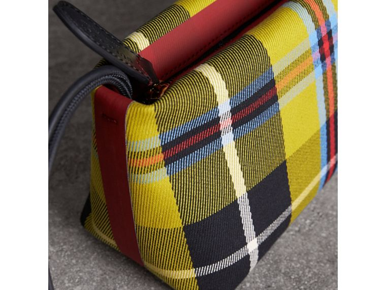 Tartan Cotton Clutch in Flax Yellow/caramel | Burberry Australia - cell image 1