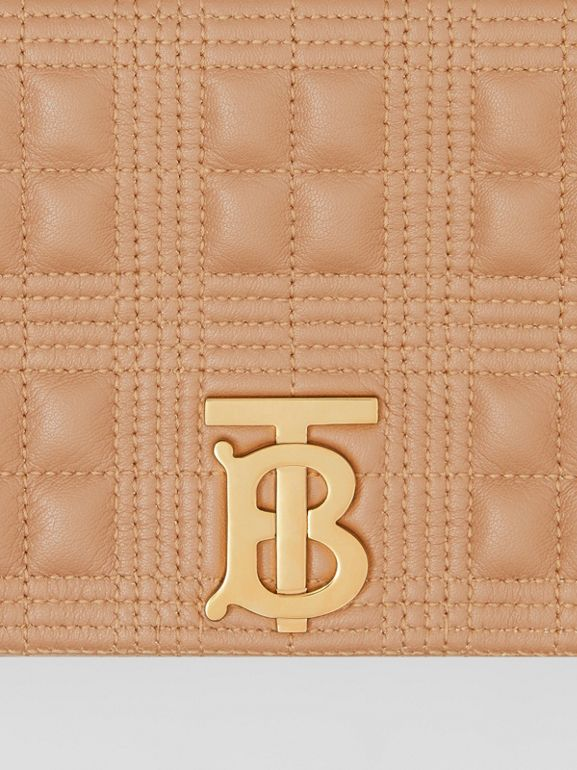 Small Quilted Check Lambskin Lola Bag in Camel | Burberry United Kingdom - cell image 1