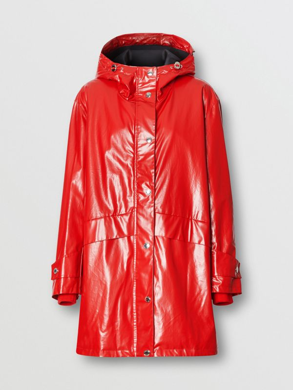 Horseferry Print Coated Jersey Parka in Bright Red - Women | Burberry Hong Kong S.A.R - cell image 3