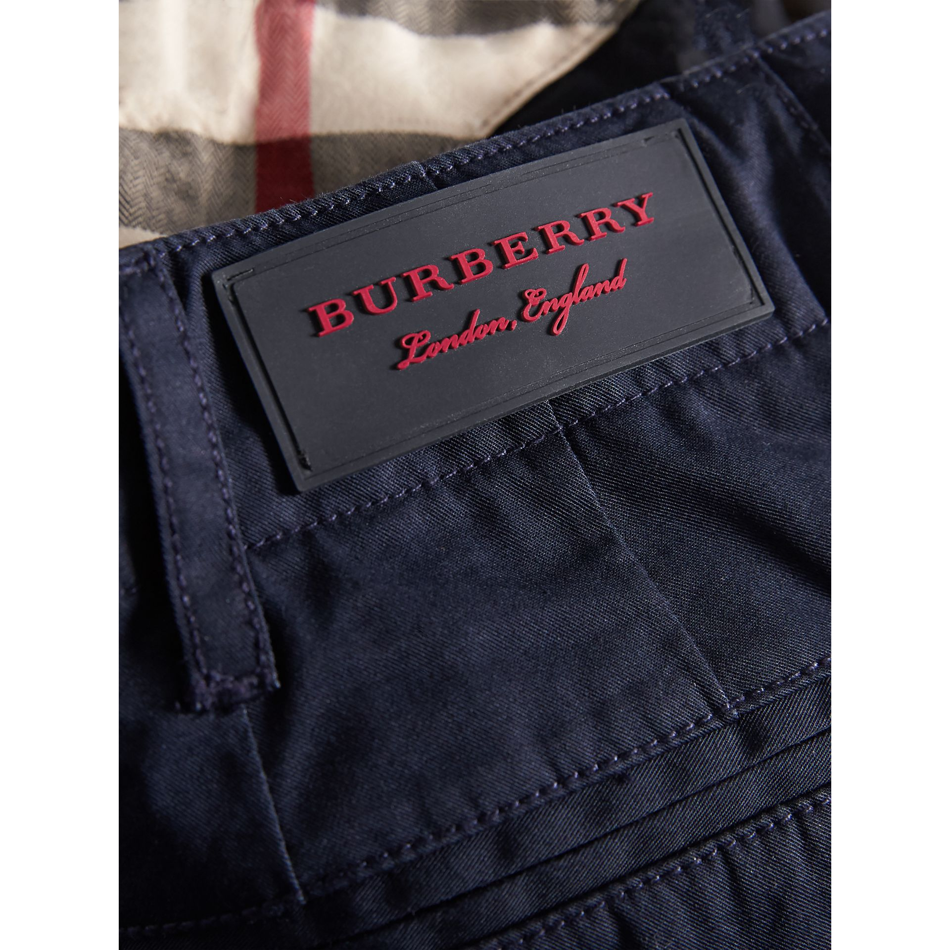 Cotton Chinos in Ink | Burberry Hong Kong - gallery image 1