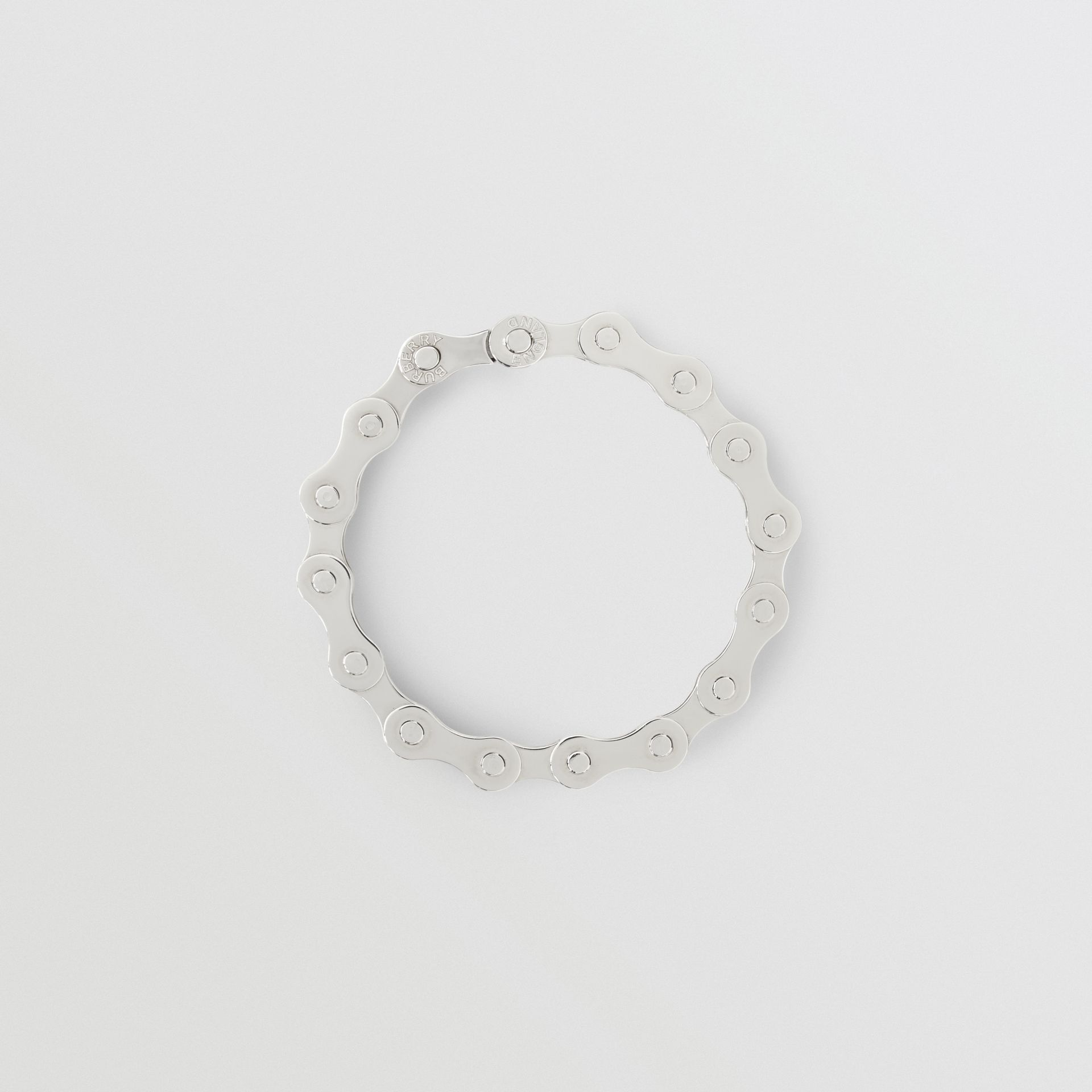 Bicycle Chain Palladium-plated Bracelet in Silver - Men | Burberry - gallery image 0