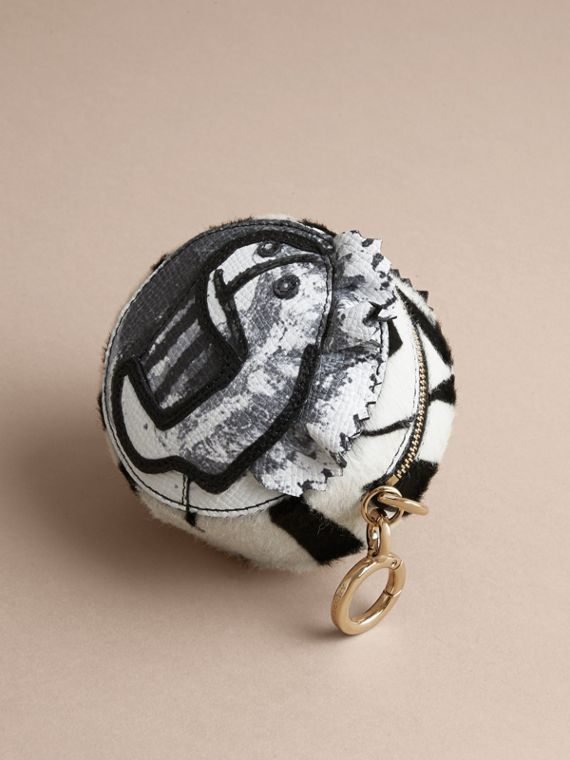 Pallas Heads Motif Calf Hair and Snakeskin Coin Case in Black/white - Men | Burberry Singapore - cell image 2