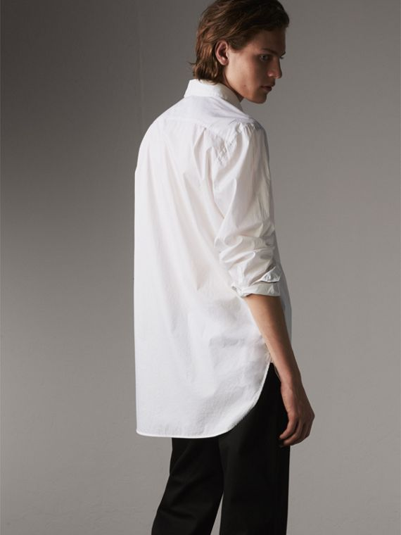 Japanese Cotton Poplin Shirt in White - Men | Burberry Canada - cell image 2
